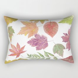 Autumn Leaf collage 3973 Rectangular Pillow