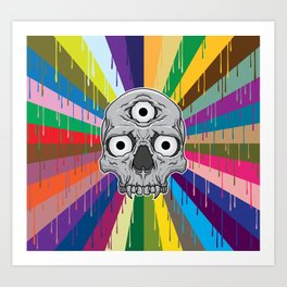 3 Eyed Jackass Art Print
