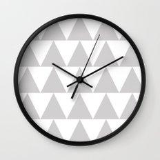 Grey Triangle /// www.pencilmeinstationery.com Wall Clock
