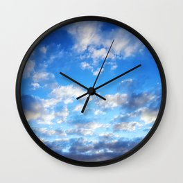 Fluffy Clouds Wall Clock
