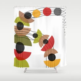 Flowing Circles Shower Curtain