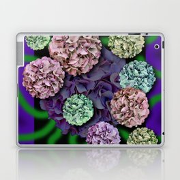 HYDRANGEAS FADING ABSTRACT BOUQUET  Laptop & iPad Skin