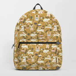 Bunnies + Teapots in Gold Backpack