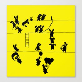 Fighting Bunnies Canvas Print