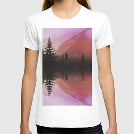 Sunset forest reflections T-shirt