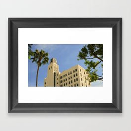 Greetings From Santa Monica, California Framed Art Print