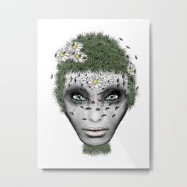 Face Nature Metal Print