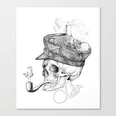 Sailor B&W Canvas Print