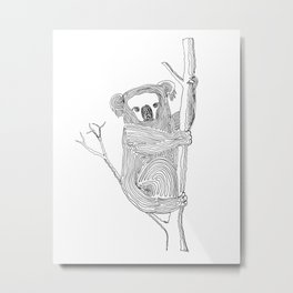 Koala - One Liner Metal Print