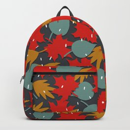 Falling red leaves Backpack