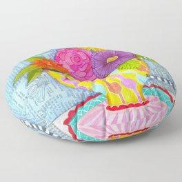 hummingbird tea Floor Pillow