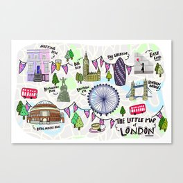 The 'Little Map' of London Canvas Print