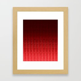 Passionate red. Framed Art Print