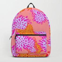 Starfish & Sea Urchins pink Backpack