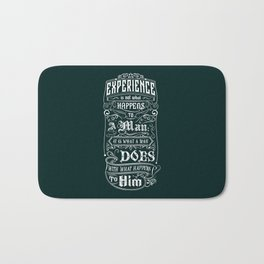 Lab No. 4 Experience Is Not What Happens To A Man Aldous Huxley Inspirational Quotes Bath Mat
