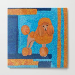 Fun whimsical Orange Toy Poodle Metal Print