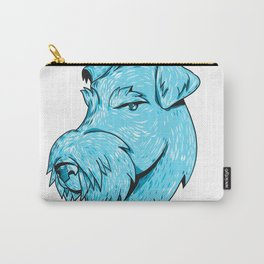 Bingley Terrier Head Drawing Carry-All Pouch