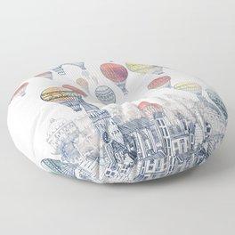 Voyages Over Edinburgh ~ Refresh Floor Pillow