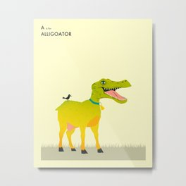 A is for Alligoator Metal Print