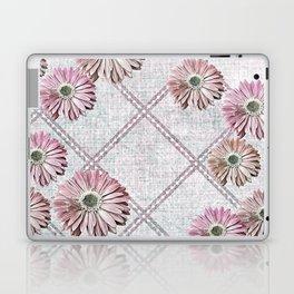 retro pink daisies Laptop & iPad Skin