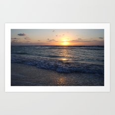 sunrise over the ocean Art Print
