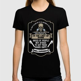 Awesome Millwright I'm The Last Of Dying Machinist Funny Tradesman T-shirt