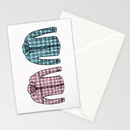 Flannel shirts Stationery Cards