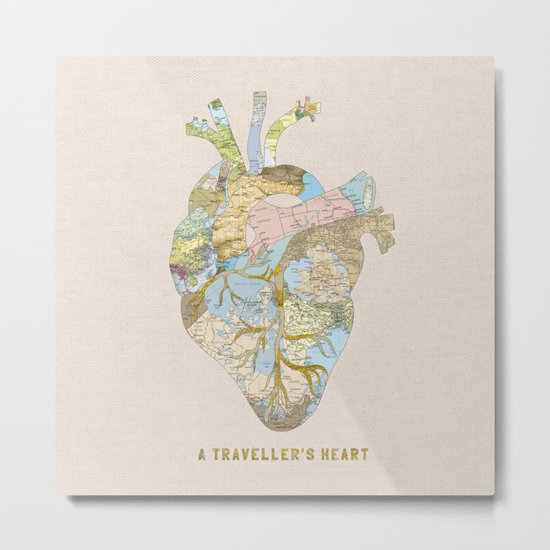 A Traveller's Heart (UK) Metal Print