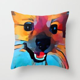 Pomeranian 2 Throw Pillow