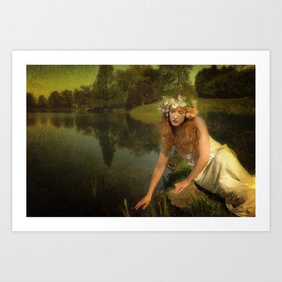 The water Maiden Art Print
