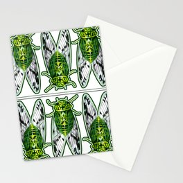 Emerald Cicadas Stationery Cards