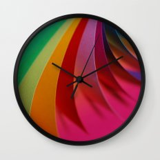 Colorful Paper Wall Clock