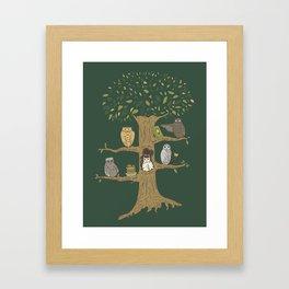 Never Trust an Owl Framed Art Print