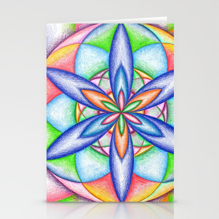 Expanding Flower Power - The Rainbow Tribe Collection Stationery Cards