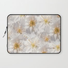 White Cherry Blossoms Pattern Laptop Sleeve