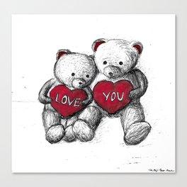 Bear: Valentine's Day Canvas Print