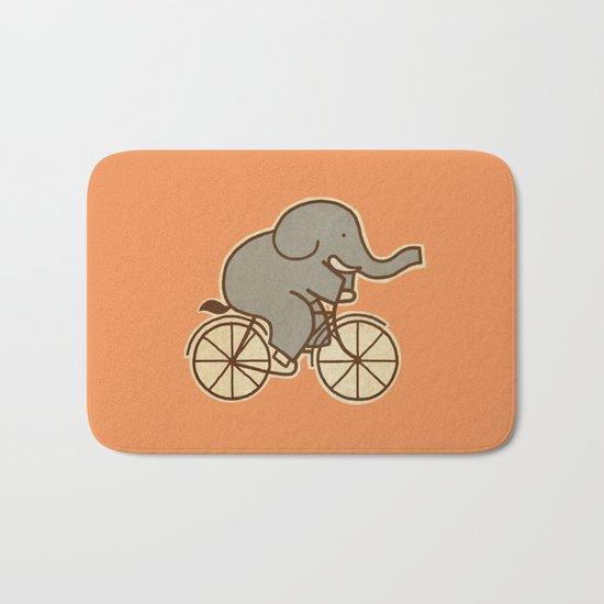 Elephant Cycle Bath Mat