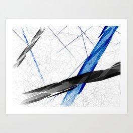 Abstract Ways Art Print
