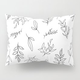 Falling Foliage - in black and white Pillow Sham