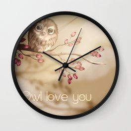 Owl love you Wall Clock
