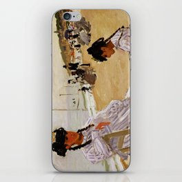On the Beach at Trouville by Claude Monet iPhone Skin
