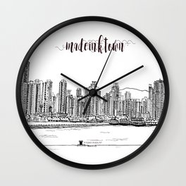 Travel in Hong Kong Kennedy Town Wall Clock