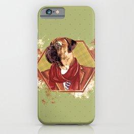 Hipster Bullmastiff dog iPhone Case