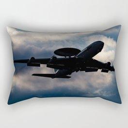 AWACS aircraft silhouette Rectangular Pillow