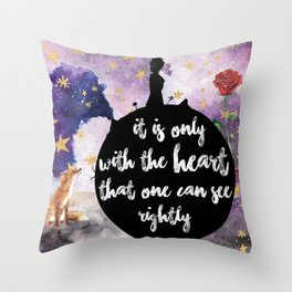 Little Prince With the Heart Throw Pillow