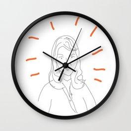 t0 sylvia plath Wall Clock