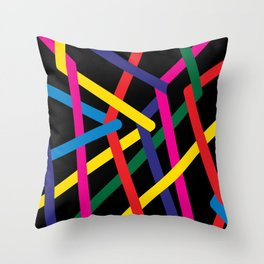 Geometric Lines Streched Throw Pillow