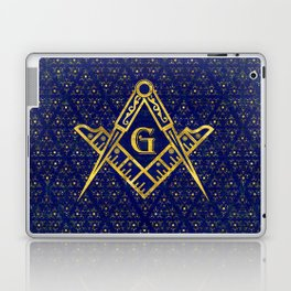 Freemasonry symbol Square and Compasses Laptop & iPad Skin