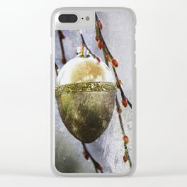 Golden easter egg Clear iPhone Case