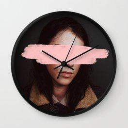 Portrait of a Woman Blushing. Wall Clock